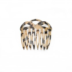 Diamant de Paris - Fait main -8 teeth Comb Turtle White