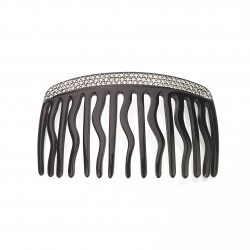 Diamant de Paris - Fait main -15 teeth Comb Black & Strass
